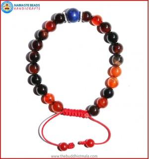 Mix Agate Stone Bracelet with Lapis Lazuli Bead
