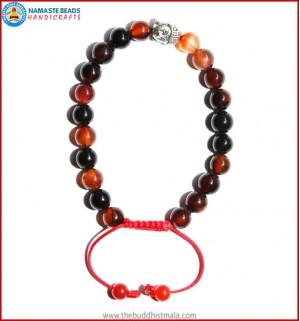 Mix Agate Stone Bracelet with Buddha Head Bead