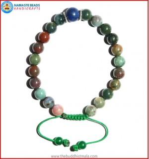 Mix Jasper Bracelet with Lapis Lazuli Bead