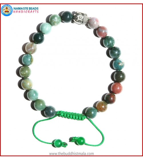 Mix Jasper Bracelet with Buddha Head Bead