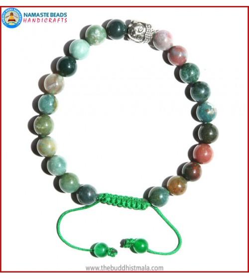 Mix Jasper Bracelet with Buddha Head Bead