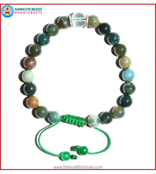 Mix Jasper Bracelet with Crystal Bead