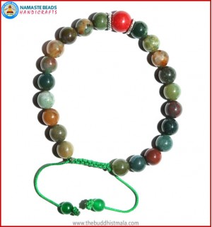 Mix Jasper Bracelet with Coral Bead