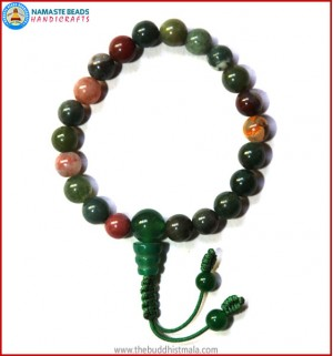 Mix Jasper Wrist Mala with Green Jade Bead