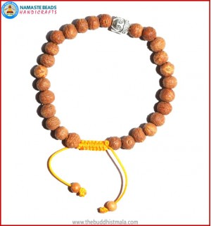 Raktu Seed Bracelet with Buddha Head