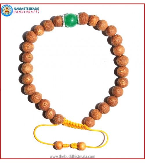 Raktu Seed Bracelet with Jade Bead