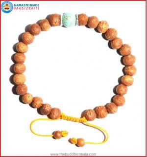 Raktu Seed Bracelet with Turquoise Bead