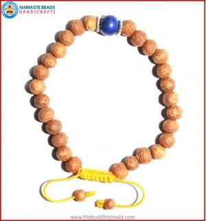 Raktu Seed Bracelet with Lapis Lazuli Bead