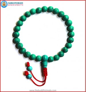 Reconstituted Turquoise Wrist Mala