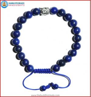 Afghani Lapis Lazuli Stone Bracelet with Buddha Head Bead