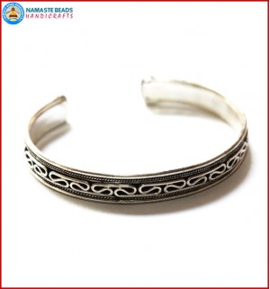 White Metal Bracelet