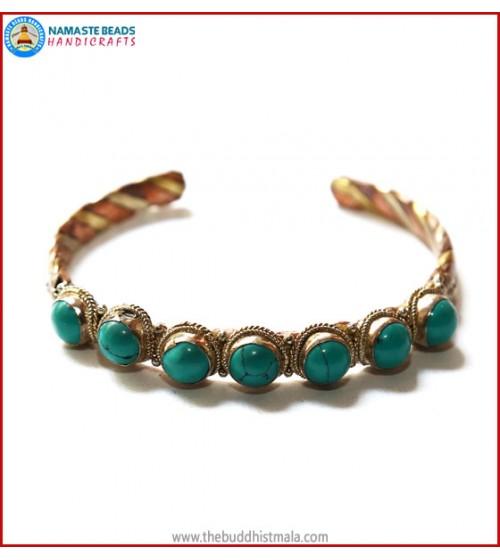 Seven Turquoise 3 Metal Bracelet