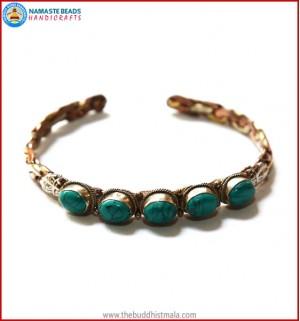 Five Turquoise 3 Metal Bracelet