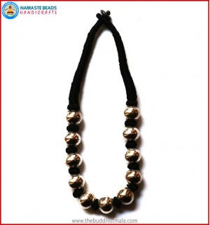 White Metal Beads Necklace