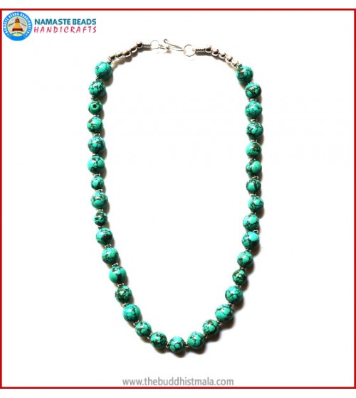 Round Turquoise beads Necklace