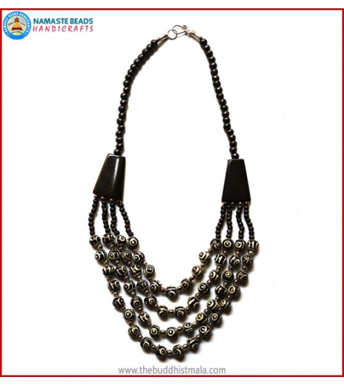 4 Layers Dzi Bone Beads Necklace
