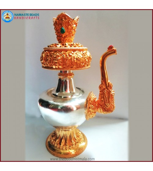 Silver Bhumba with Gold Plated